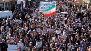 Manifestação pró-governo iraniano.