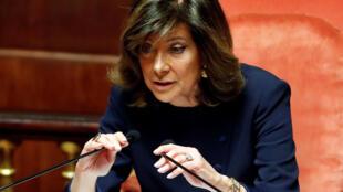 Bà Maria Elisabetta Alberti Casellati, thuộc đảng Forza Italia, được bầu làm chủ tịch Thượng Viện Ý, Roma
