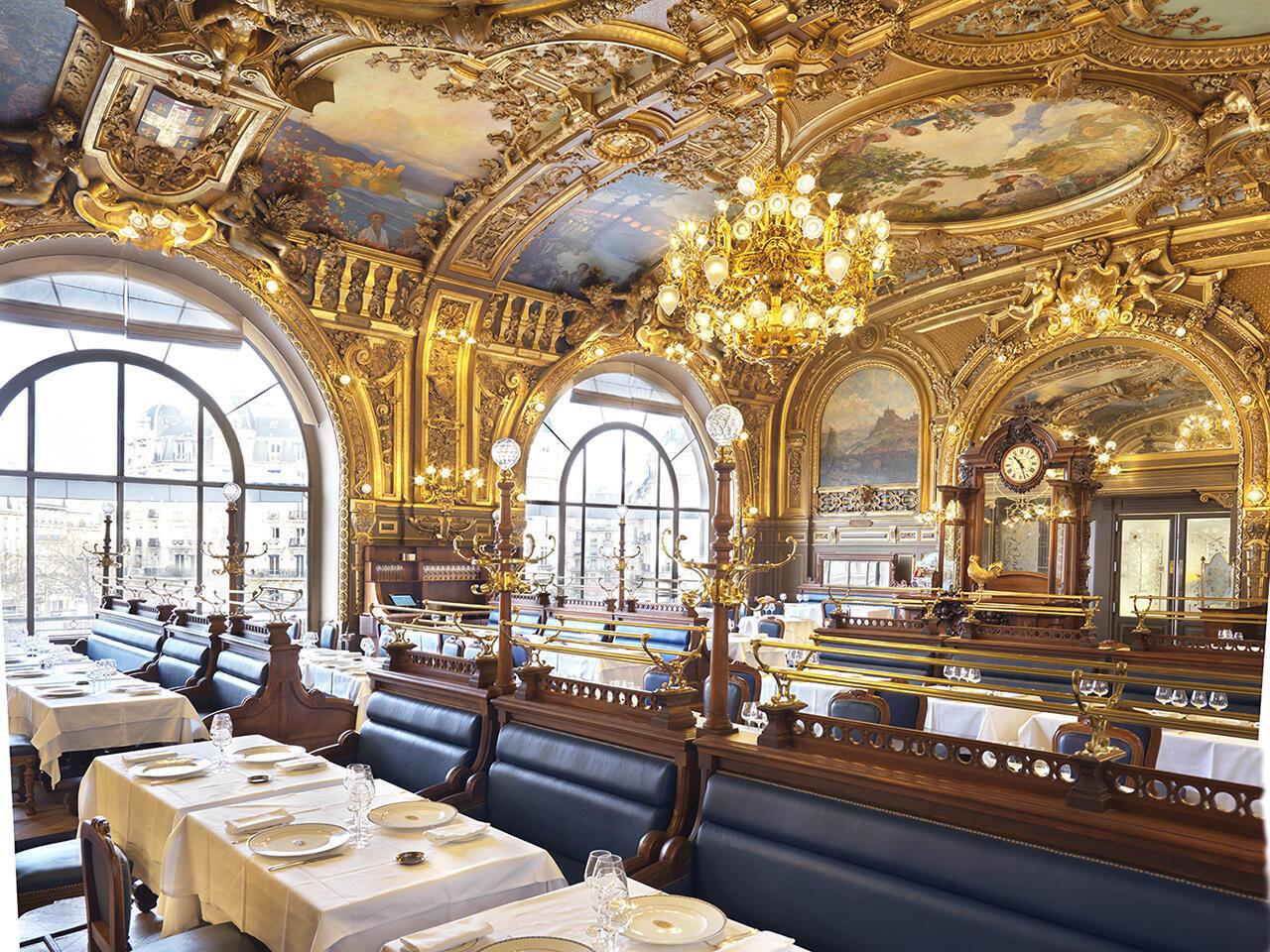 Исторические рестораны Парижа. Le Train Bleu на Лионском вокзале.