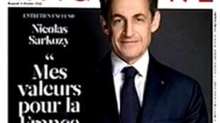 O presidente francês Nicolas Sarkozy deu longa ao Figaro Magazine que irá às bancas no próximo sábado.