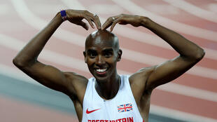 Mo Farah celebrated his victory in London with his trademark pose the 'Mobot'