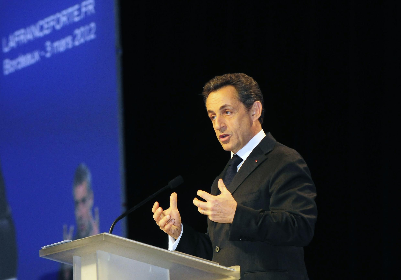 Nicolas Sarkozy in Bordeaux on Saturday
