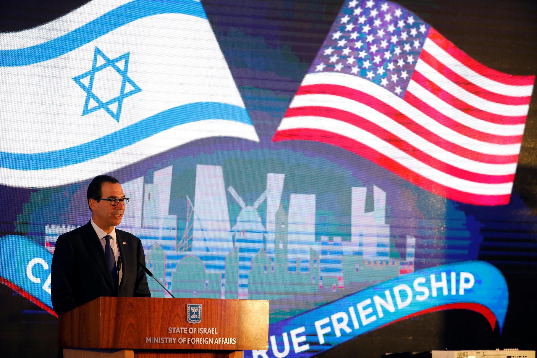 Министр финансов Стивен Мнучин на приеме в честь открытия посольства США в Иерусалиме, 13 мая 2018.