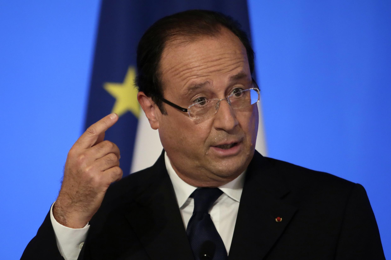 François Hollande, le 27 août 2013 devant la conférence des ambassadeurs à Paris.