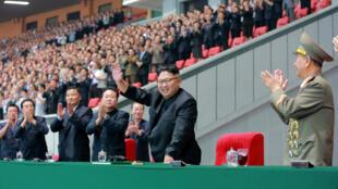 Imagen del líder norcoreano el pasado 28 de agosto en el estadio nacional