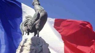 Le coq gaulois, symbole national de la France.