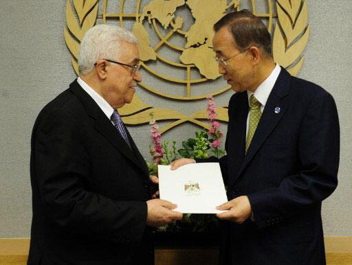 Mahmoud Abbas rand Ban Ki Moon