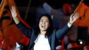 Keiko Fujimori en su mitin de cierre de campaña en Lima, este 2 de junio de 2016.