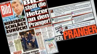Jornal Bild faz campanha de duas páginas revelando nomes e fotos de autores de mensagens racistas nas redes.