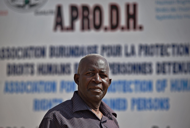 Le président de l'Aprodh, Pierre-Claver Mbonimpa.