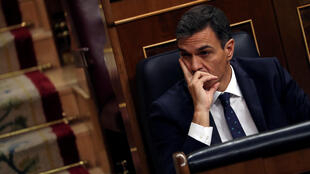 Pedro Sanchez, chef du gouvernement espagnol, ici au Parlement le 24 octobre 2018, est embarrassé par l'affaire Khashoggi et le contrat de vente de corvettes à l'Arabie saoudite.