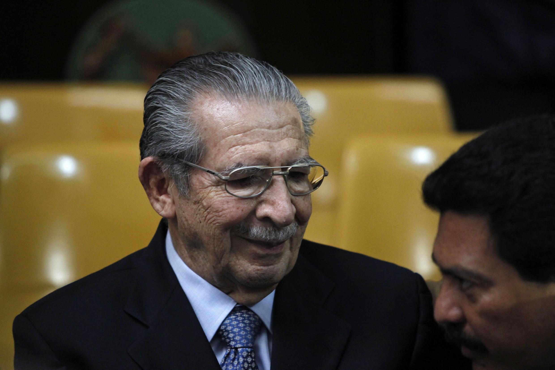 Efraín Ríos Montt lors de son procès pour génocide et crimes de guerre en mai 2013.