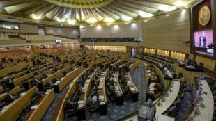 Một phiên họp Hội đồng Cải cách Quốc gia  do chính quyền quân sự lập ra để soạn dự thảo Hiến pháp trong một phiên học tại Quốc hội hôm 6/9/2015
