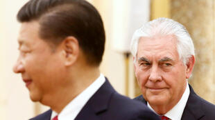 Chủ tịch Trung Quốc Tập Cận Bình tiếp Ngoại trưởng Mỹ Rex Tillerson ngày 19/03/2017 tại Bắc Kinh.