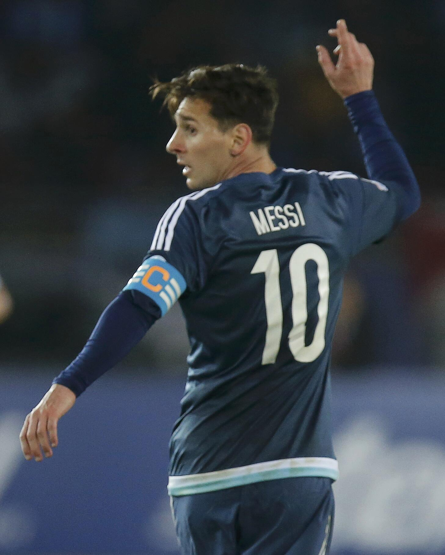 Lionel Messi is set to win his 100th cap for Argentina.