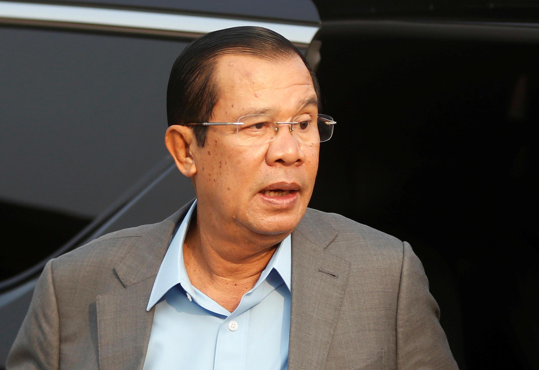 Thủ tướng Cam Bốt Hun Sen tại Phnom Penh, ngày 13/03/2018.