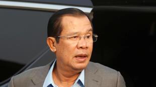 Le Premier ministre cambodgien Hun Sen, à Phnom Penh, le 13  mars 2018.