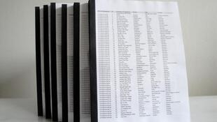 Danh sách 15.888 người ký tên được kèm theo lá thư về Hoàng Sa gởi đến Liên Hiệp Quốc ngày 24/01/2014.