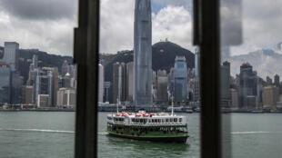 Un ferry en Hong Kong, China, el 3 de junio de 2021