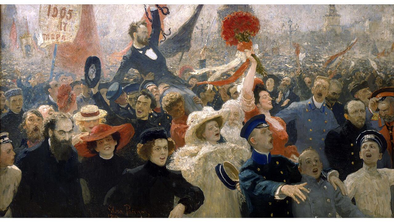 ДК 21. Ilya Répine, Le 17 octobre 1905, 1907, retravaillé en 1911, Galerie nationale Trétiakov, Moscou