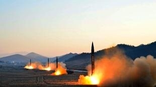 Lanzamiento de un misil norcoreano.