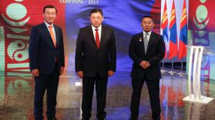 蒙古三位總統候選人6月24日舉行電視辯論