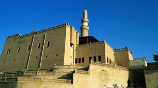 La tombe du prophète Jonas à Mossoul, avant sa destruction par les combattants de l'Etat islamique.