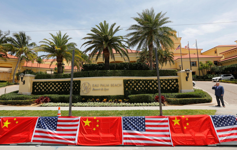 Quang cảnh khách sạn Eau Palm Beach, nơi ông Tập Cận Bình nghỉ tại Manalapan, Florida trong thời gian thăm Mỹ từ 05/ 04/2017.