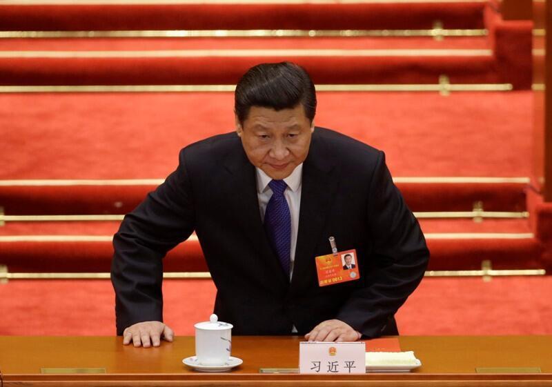 Chủ tịch Tập Cận Bình tại Đại Sảnh Quốc Hội Nhân Dân Trung Quốc. Ảnh tư liệu ngày 15/03/2013.