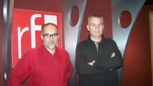 Robert Erra (directeur du laboratoire Sécurité de l'Information et Systèmes) et Eric Filiol (directeur de la recherche) de l'ESIA