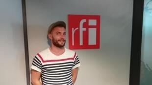 Sébastien Meier en studio à RFI (juin 2018).