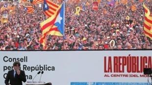 Carles Puigdemont a fait déplacer les foules à Perpignan, dans le sud de la France, le 29 février 2020.