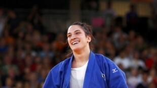 A judoca brasileira Mayra Aguiar levou o bronze no judô na categoria 78kg nesta quinta-feira, em Londres.