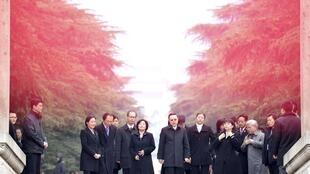 Phái đoàn Đài Loan tại khu mộ Tôn Trung Sơn ở Nam Kinh, Trung Quốc, ngày 12/10/2014