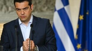 El Primer Ministro Alexis Tsipras en Atenas el 17 de junio de 2015.