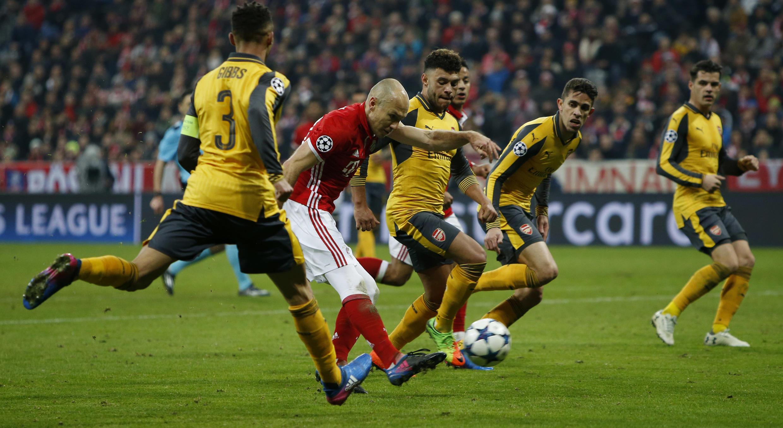 Arjen Robben ya fara ci wa Bayern Munich kwallo a ragar Arsenal
