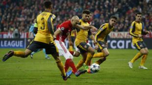 Mchuano wa mzunguko wa kwanza wa mwondoano kati ya Bayern Munich na Arsenal Februari 15 2017