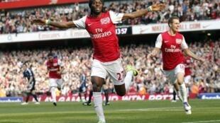 L'Ivoirien Gervinho sous les couleurs d'Arsenal.