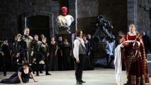 Le dernier opéra  de Mozart «La clémence de Titus» réalisé par David McVicar au théâtre de l'Archeveché à Aix-en-Provence, durant le 63e festival international d'art lyric. Juillet 2011.