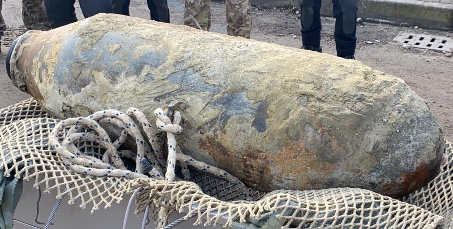 A bomb from the second world war discovered during work on sewer lines in Venice.