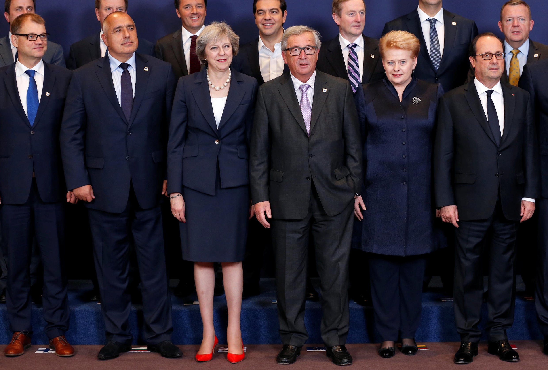 Theresa May ta Birtaniya da shugabannin kasashen Turai