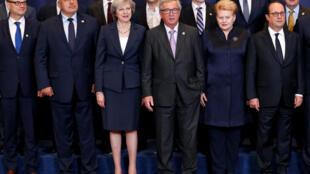 A cúpula de Bruxelas contou pela primeira vez com a participação da primeira-ministra britânica, Theresa May.