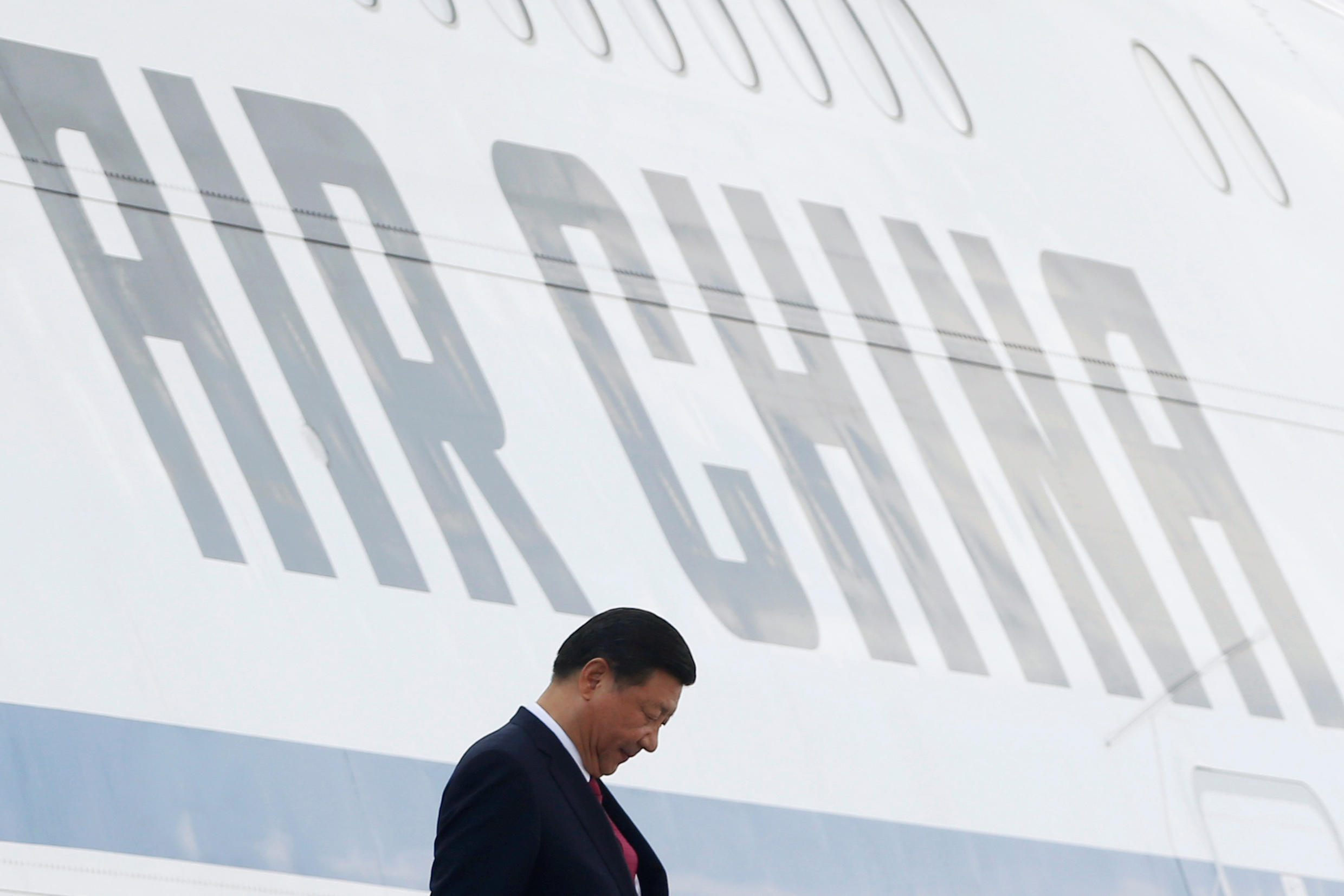 Le président chinois Xi Jinping arrive à Danang, le 10 novembre 2017.