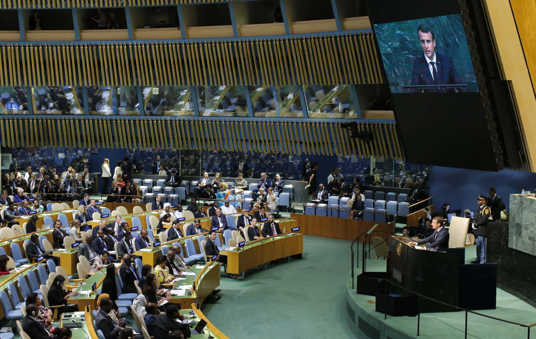 Эмманюэль Макрон на 72-й Генассамблее ООН. 19 сентября 2017