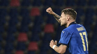 Ciro Immobile has scored 13 goals for Italy.