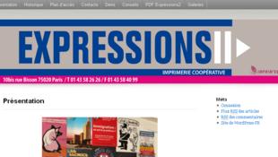 Site internet de la SCOP Expressions 2.