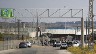 Zona bajo control de la Autoridad Palestina en la Franja de Gaza, después del paso de Erez.