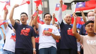 台湾庆祝双十节国庆,马英九与民进党互呛