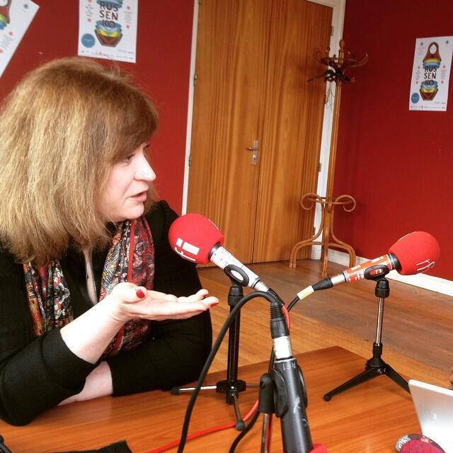 Анна Качкаева в студии RFI на фестивале Russenko в Кремлен-Бисетре под Парижем, 31 января 2015