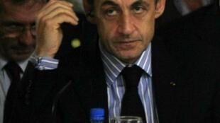 Nicolas Sarkozy à Manaus, le 26 novembre 2009.